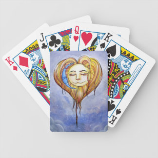 Naipes de Luna del la de El Amor del Sol y Baraja Cartas De Poker