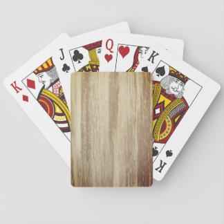Naipes de madera del diseño