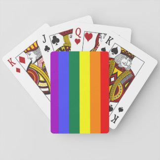 Naipes del arco iris de la bandera del orgullo