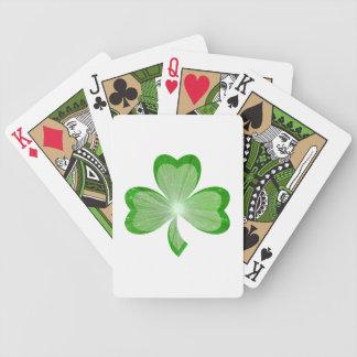 Naipes del blanco del trébol baraja cartas de poker
