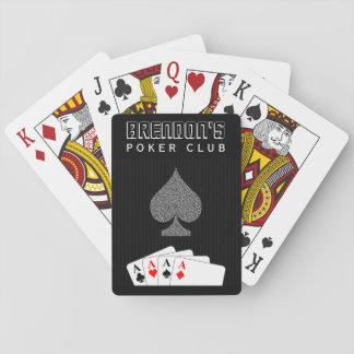 Naipes del casino del club del póker del juego de