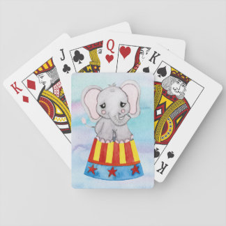 Naipes del elefante del circo