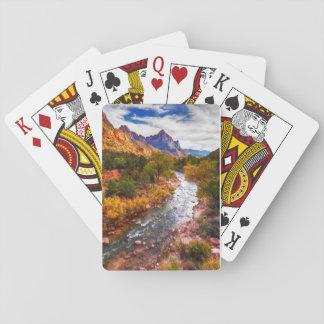 Naipes del esplendor del otoño del parque nacional