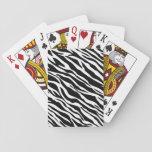 Naipes del estampado de zebra