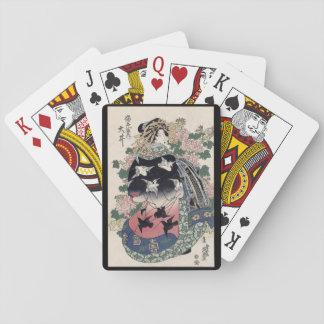 Naipes del geisha de Eisen Ukiyo-e