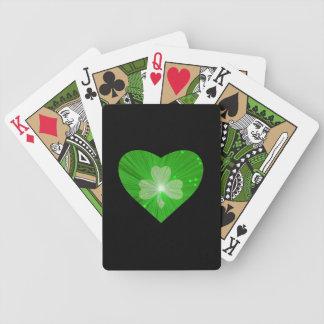 Naipes del negro del corazón del trébol baraja de cartas