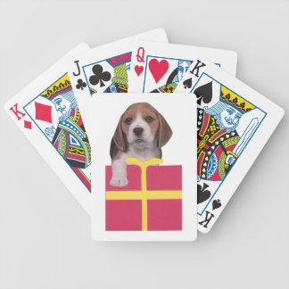 Naipes del perrito del beagle cartas de juego
