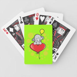 Naipes del póker de Bicycle® con el elefante