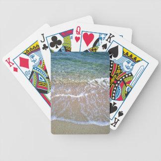 Naipes del póker de Bicycle® de la playa