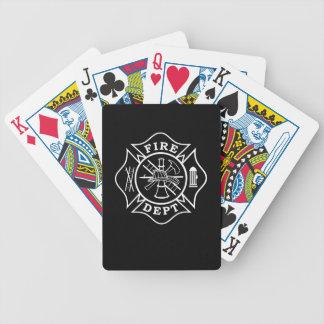 Naipes del póker de Bicycle® del bombero