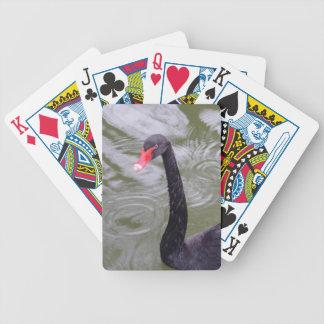 Naipes del póker de Bicycle® del cisne negro