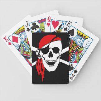 Naipes del póker de Bicycle® del cráneo del pirata