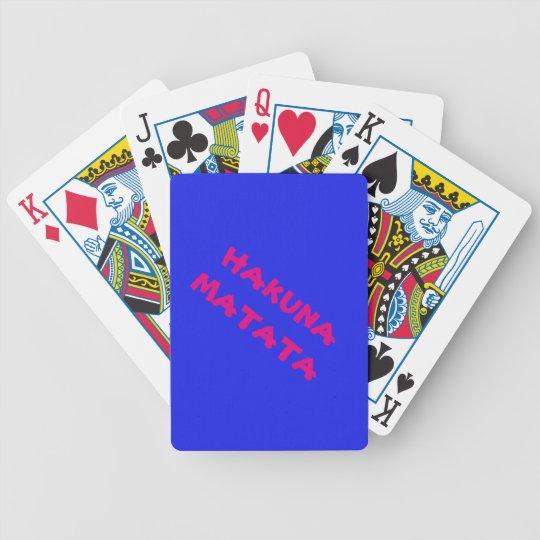 Naipes del póker de Hakuna Matata