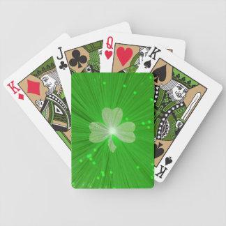 Naipes del trébol baraja cartas de poker