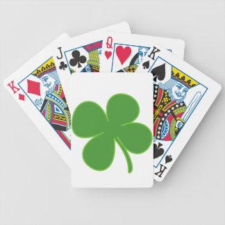 Naipes del trébol barajas de cartas