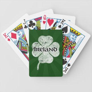 Naipes del trébol del Grunge de Irlanda luz Baraja Cartas De Poker