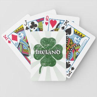 Naipes del trébol del Grunge de Irlanda (oscuros) Baraja Cartas De Poker