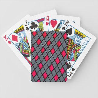 Naipes geométricos rojos del póker del modelo del