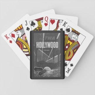 Naipes grises de Hollywood del vintage