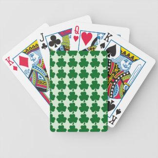 Naipes irlandeses del trébol baraja cartas de poker
