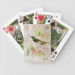 Naipes magníficos del colibrí baraja de cartas