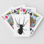 Naipes negros de la araña baraja cartas de poker