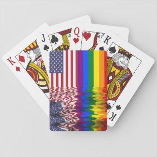 Naipes patrióticos del orgullo gay