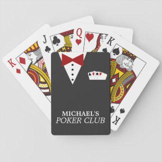Naipes personalizados del club del póker