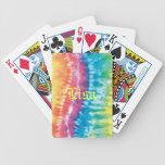 Naipes personalizados del teñido anudado baraja de cartas