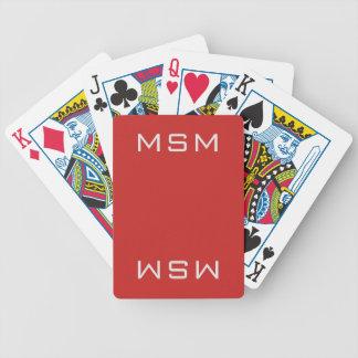 Naipes rojos de MSM
