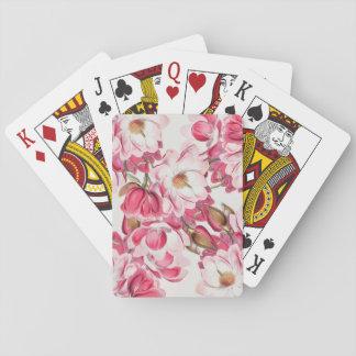 Naipes rosados de la magnolia