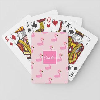Naipes rosados personalizados monograma del