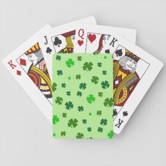 Naipes verdes irlandeses del trébol