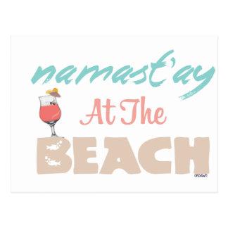 Namast'ay en la playa postal