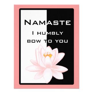 Namaste - arqueo humildemente a usted anuncio personalizado