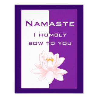 Namaste - arqueo humildemente a usted (la púrpura) comunicado