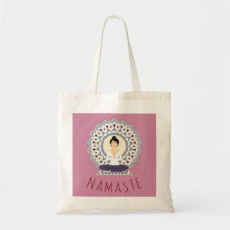Namaste en la actitud de Lotus - la bolsa de asas