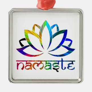 Namaste, flor de Lotus, arco iris, ornamento