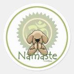 Namaste - pegatinas de la yoga etiquetas redondas