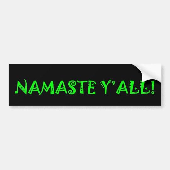 Namaste usted - pegatina para el parachoques de la