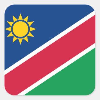 Namibia Pegatina Cuadrada