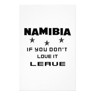 Namibia si usted no la ama, se va papelería