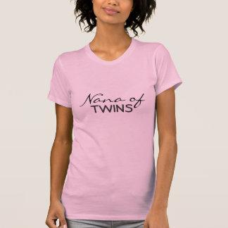 Nana de gemelos camiseta