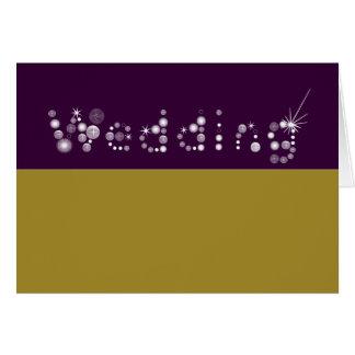 naomis_collection del boda tarjeta de felicitación