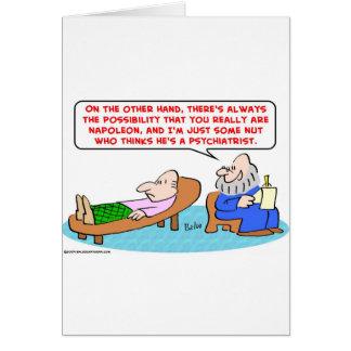 napoleon algún psiquiatra de la nuez tarjeta