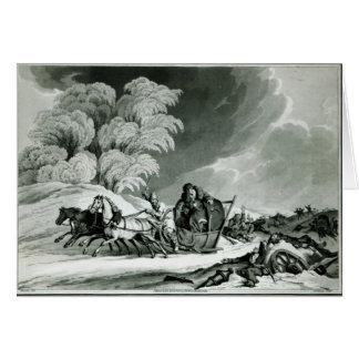 Napoleon en disfraz tarjeta de felicitación