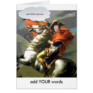 Napoleon en la tarjeta de Horsebackfaceinhole