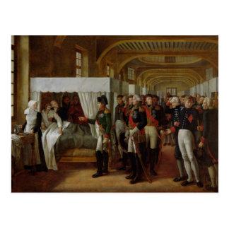 Napoleon que visita la enfermería de Invalides Tarjetas Postales