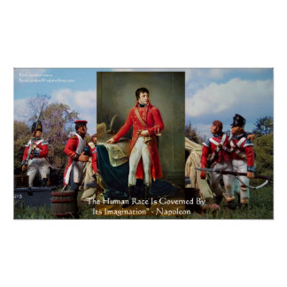 "Napoleon ""reglas de la imaginación"" cita la manga póster"