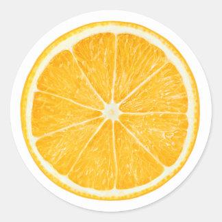 Naranja #8 pegatina redonda